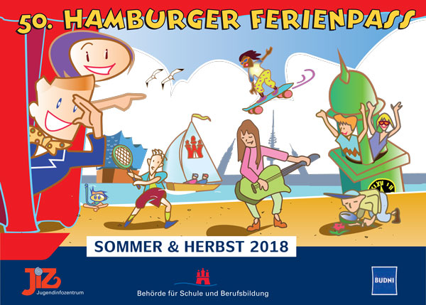 Titelbild des Ferienpass 2018 © Jugendinformationszentrum Hamburg
