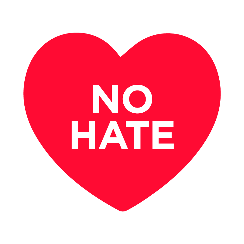 NO HATE - Logo der Initiative No Hate Speech Movement © No Hate Speech Movement